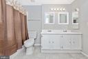 Bathroom with dual vanity sinks. - 809-D STRATFORD WAY #1400D, FREDERICK