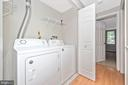 Laundry room with washer and dryer. - 809-D STRATFORD WAY #1400D, FREDERICK