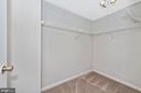 Huge walk in closet! - 809-D STRATFORD WAY #1400D, FREDERICK