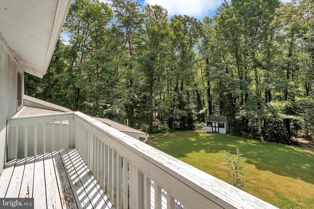 Balcony off upper level master - 10902 LAKEN WOODS DR, BUMPASS