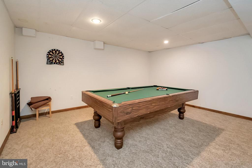 Finished Lower level game/rec room - 10902 LAKEN WOODS DR, BUMPASS