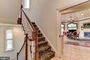2nd staircase leading to all levels off kitchen - 9333 BELLE TERRE WAY, POTOMAC