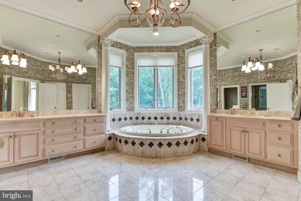 Master Bath - Double Vanity - Tub - Stand Up Showe - 9333 BELLE TERRE WAY, POTOMAC