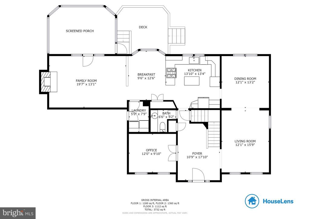 Main Level Floor Plan - 6806 HATHAWAY ST, SPRINGFIELD