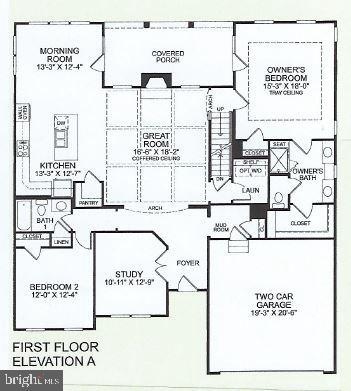 Main level floor-plan for Carolina Place - 17462 SPRING CRESS DR, DUMFRIES