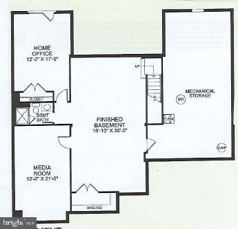 Lower level floor-plan - 17462 SPRING CRESS DR, DUMFRIES