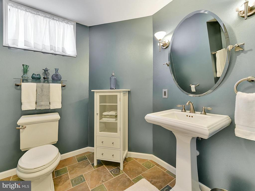 To the lower level...the full bath is complete - 206 LAYLA DR, MIDDLETOWN