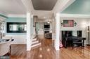 View from foyer.  Gleaming hardwoods throughout - 25046 MINERAL SPRINGS CIR, ALDIE