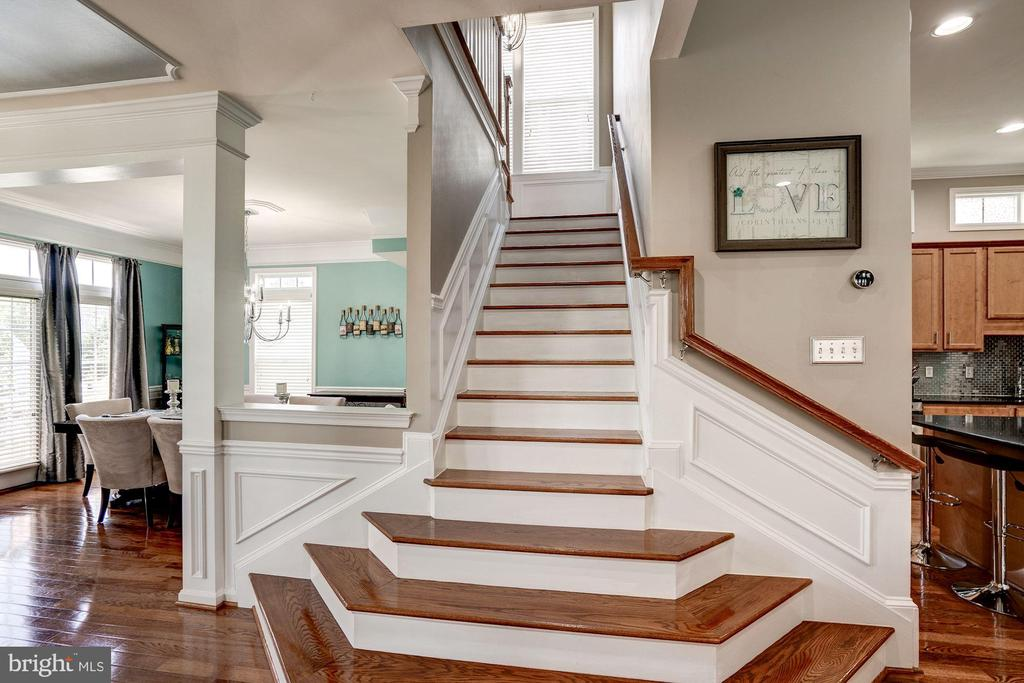 Cascading stairway, shadow box's throughout - 25046 MINERAL SPRINGS CIR, ALDIE