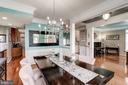 frml dining w columns, crown molding, shadow box's - 25046 MINERAL SPRINGS CIR, ALDIE