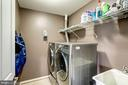Laundry room on upper level - 25046 MINERAL SPRINGS CIR, ALDIE
