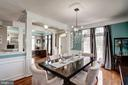 Formal Dining w/ dbl french doors open to porch - 25046 MINERAL SPRINGS CIR, ALDIE