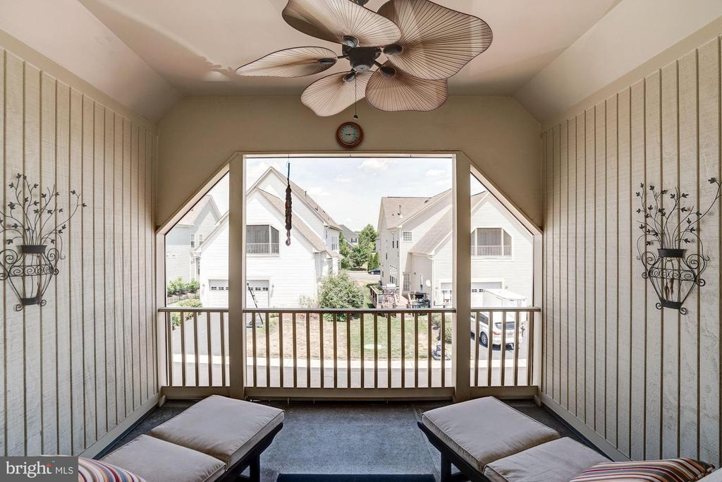 Spacious sleeper porch off of master bedroom - 25046 MINERAL SPRINGS CIR, ALDIE