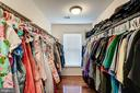 1 of 2 large walk in closets in master - 25046 MINERAL SPRINGS CIR, ALDIE