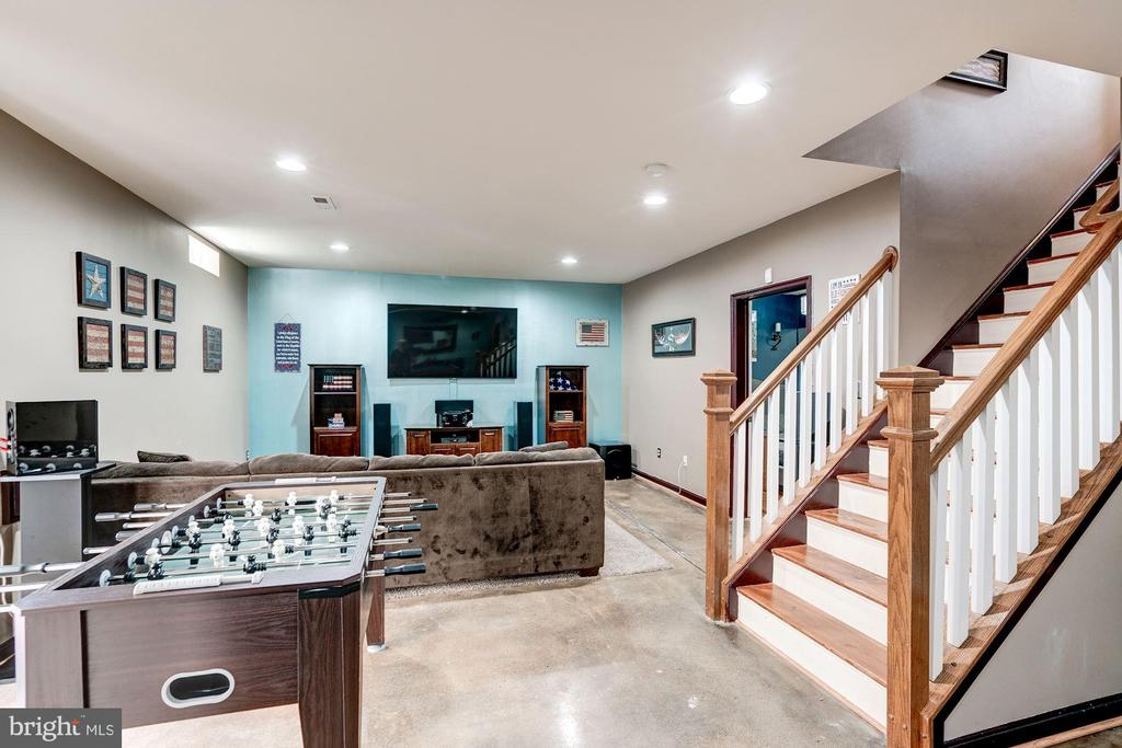 Spacious open  lower level perfect for game nights - 25046 MINERAL SPRINGS CIR, ALDIE