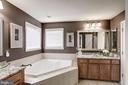 mstr ba w/double vanity, glass bowls & soaking tub - 25046 MINERAL SPRINGS CIR, ALDIE