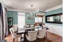 Formal Dining w/ butlers ptry w/wine fridge - 25046 MINERAL SPRINGS CIR, ALDIE