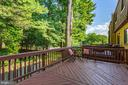 Expansive deck with built-in seating - 1726 CY CT, VIENNA
