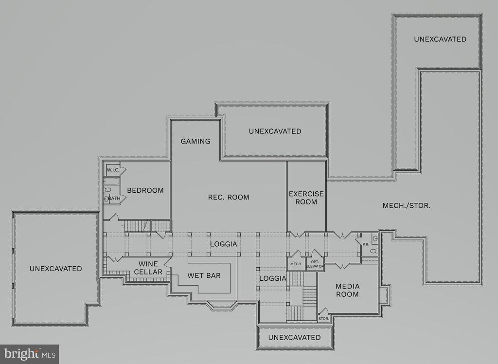 Lower Level Floorplan (Optional) - 22823 CREIGHTON FARMS DR, LEESBURG