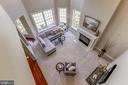 Top view from 2nd story of dramatic family room - 4793 CHARTER CT, WOODBRIDGE