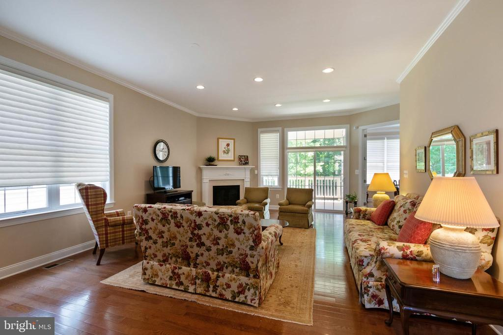 Great Room with Corner Gas Fireplace - 15233 BRIER CREEK DR, HAYMARKET