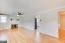 Living Room with Fire Place - 5202 CEDAR RD, ALEXANDRIA