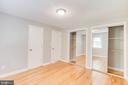 Hardwood Flooring with double closet in Master Bed - 5202 CEDAR RD, ALEXANDRIA