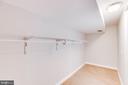 Huge Walk-In Closet in the lover Level - 5202 CEDAR RD, ALEXANDRIA