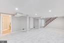 Full bathroom in the Lower level - 5202 CEDAR RD, ALEXANDRIA