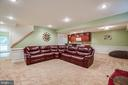 Basement family room - 12401 TOWER RD, UNIONVILLE