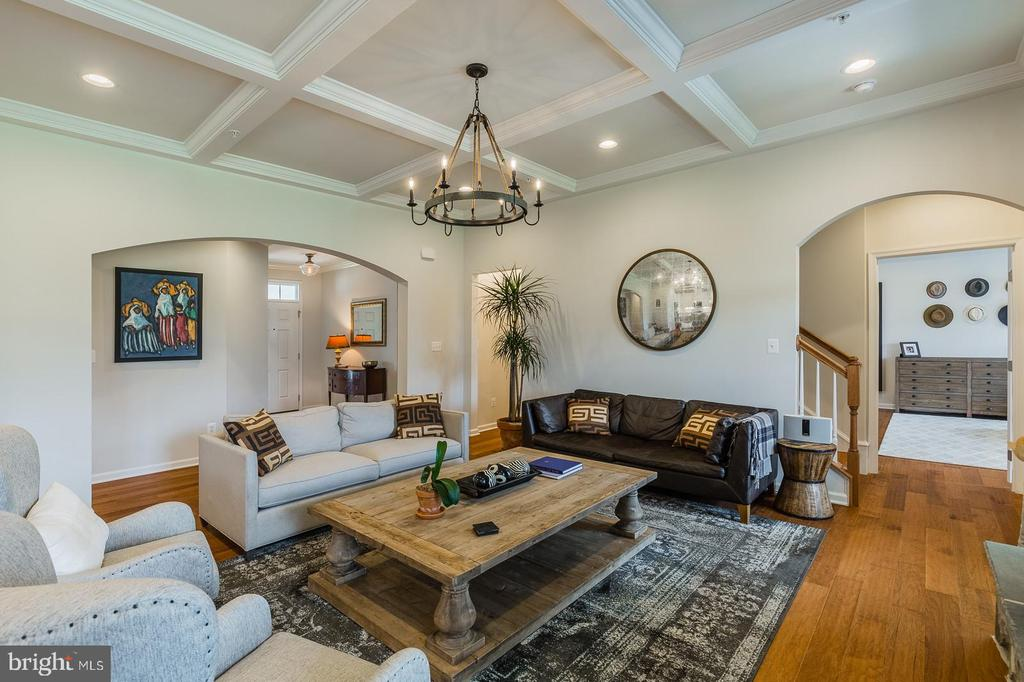Archways, 10 ft coffer ceilings, wood floors - 17462 SPRING CRESS DR, DUMFRIES