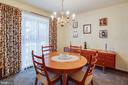 Formal dining room - 9708 COURTHOUSE RD, SPOTSYLVANIA