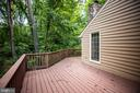 Deck wraps around the back of the home - 9708 COURTHOUSE RD, SPOTSYLVANIA