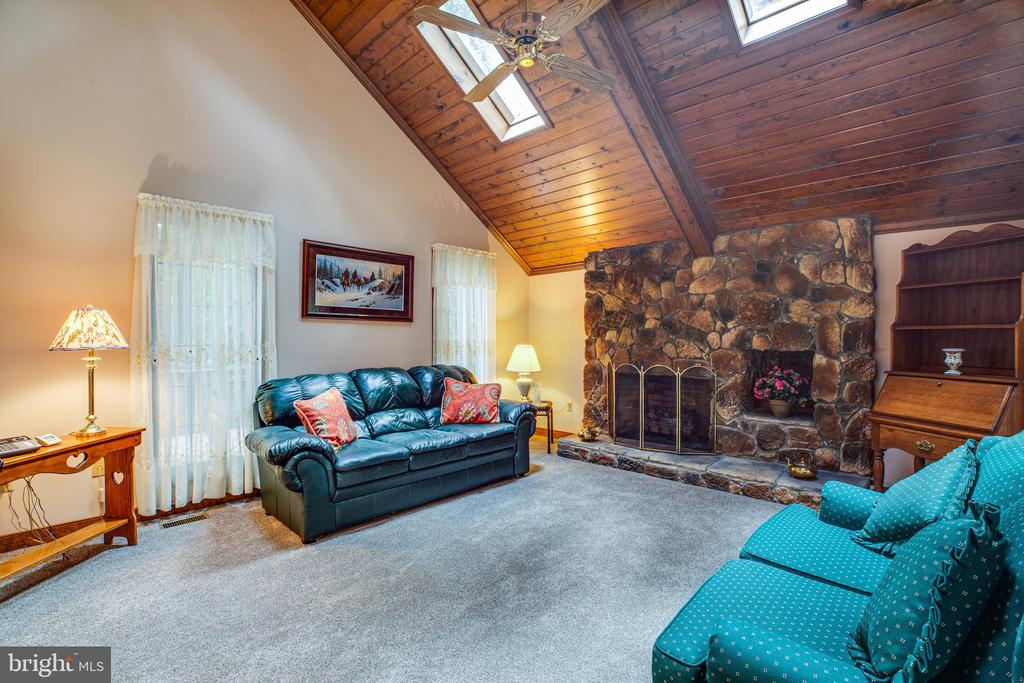 Gas fireplace in family room - 9708 COURTHOUSE RD, SPOTSYLVANIA