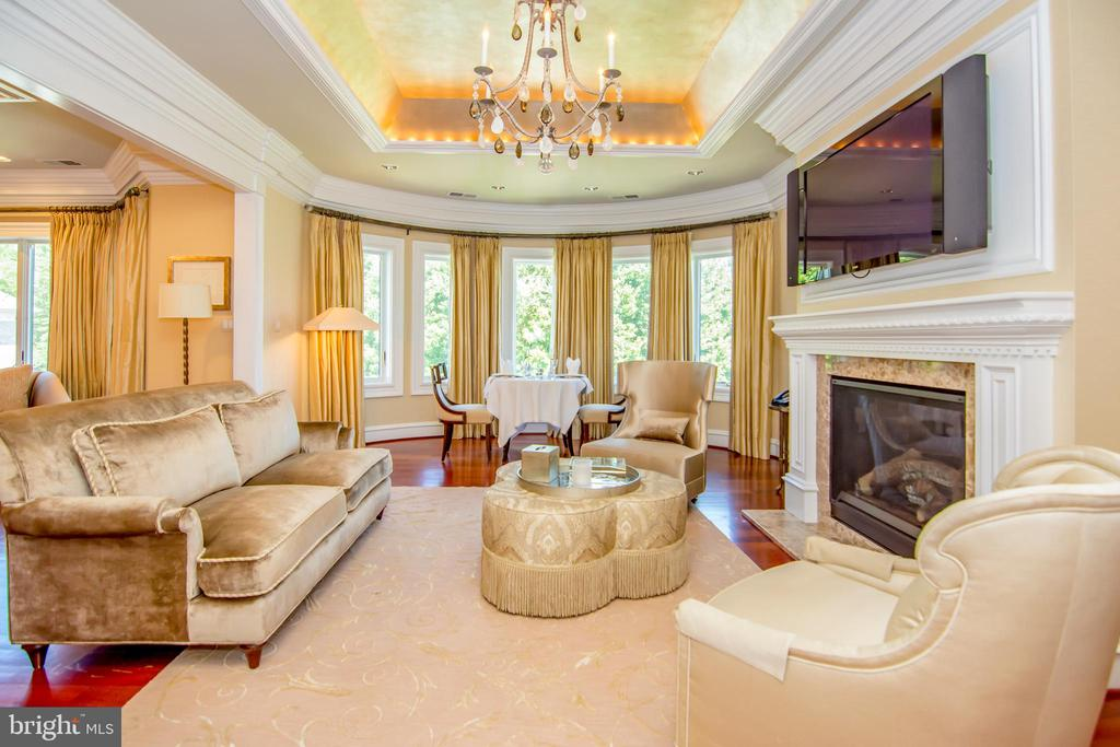 Master suite sitting area with fireplace & frig - 529 SPRINGVALE RD, GREAT FALLS