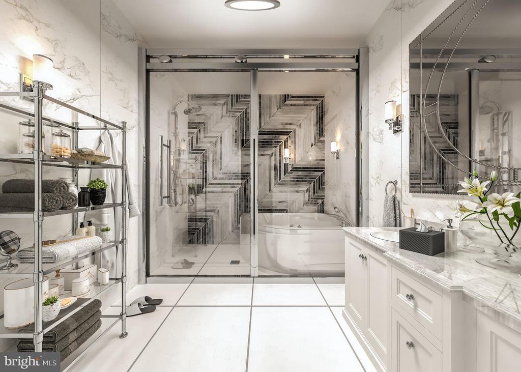 Marble Master Bath, Soak-In Tub, Waterfall Shower - 5706 NEVADA AVE NW, WASHINGTON