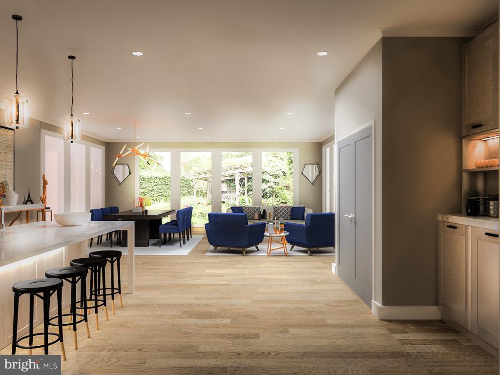 Butlers Pantry & Pantry Closet; Open Floor plan - 5706 NEVADA AVE NW, WASHINGTON