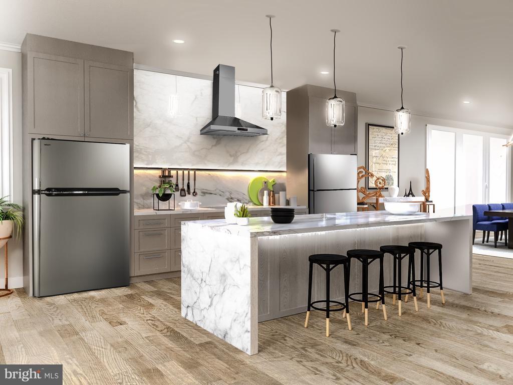 Gourmet Kitchen;Viking Appliances; Quartz Counters - 5706 NEVADA AVE NW, WASHINGTON