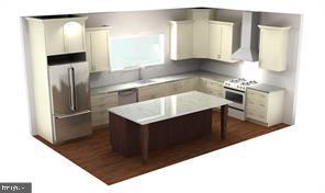 Rendering kitchen - 7412 HAMILTON ST, ANNANDALE