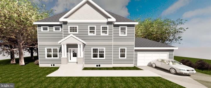 Rendering with 2 car garage - 7414 HAMILTON ST, ANNANDALE