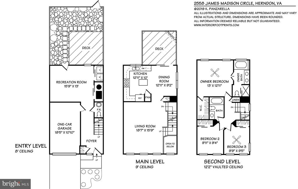 Floor plans - 2558 JAMES MADISON CIR, HERNDON