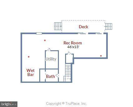 Lower level floor plan - 4697 FISHERMANS CV, DUMFRIES