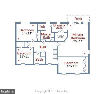 Upper Level Floor Plan - 4697 FISHERMANS CV, DUMFRIES