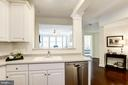 Kitchen - Features On-Trend White & Gray Colors! - 828 SLATERS LN #105, ALEXANDRIA