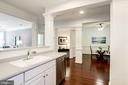 Kitchen Opens Beautifully to Dining & Living Rooms - 828 SLATERS LN #105, ALEXANDRIA