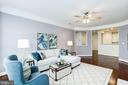 Living Room - Ceiling Fan & Overhead Lighting! - 828 SLATERS LN #105, ALEXANDRIA