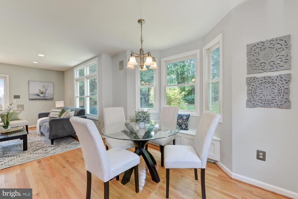 View from breakfast area into family room - 4513 EDGEFIELD RD, KENSINGTON