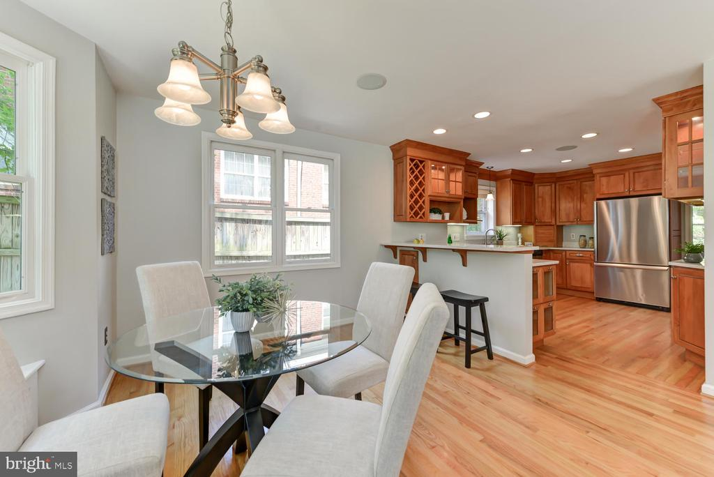 View from breakfast area into kitchen - 4513 EDGEFIELD RD, KENSINGTON