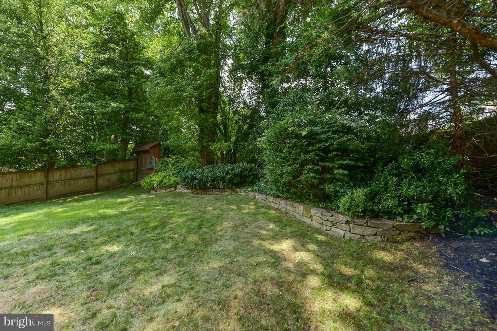 Large level backyard with mature landscaping - 4513 EDGEFIELD RD, KENSINGTON