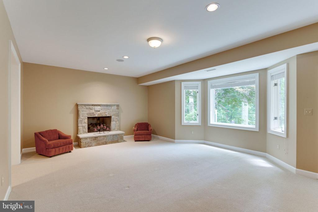 Lower level rec room w/ stone fireplace - 3111 WINDSONG DR, OAKTON